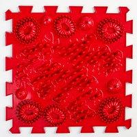 Детский массажный коврик 1 модуль 'Морской Риф' цвет темно-красный