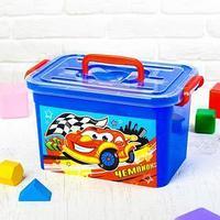 Ящик для игрушек 'Чемпион', с крышкой и ручками, 6.5 л