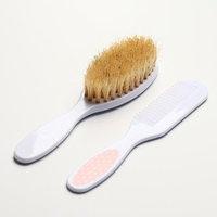 Расчёска детская массажная щётка для волос в наборе 'Малыши и малышки', от 0 мес.