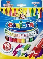 Фломастеры CARIOCA Erasable Marker стираемые, 10 цветов