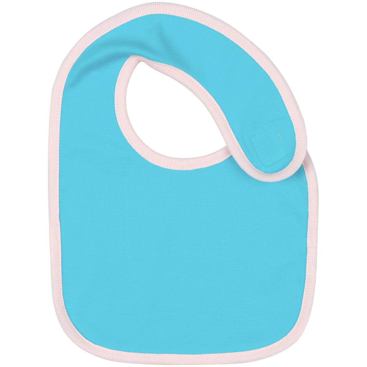 Нагрудник детский Baby Prime, бирюзовый с розовым (артикул 17090.42)