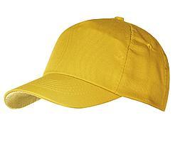 Бейсболка Unit First, желтая (артикул 6025.80)