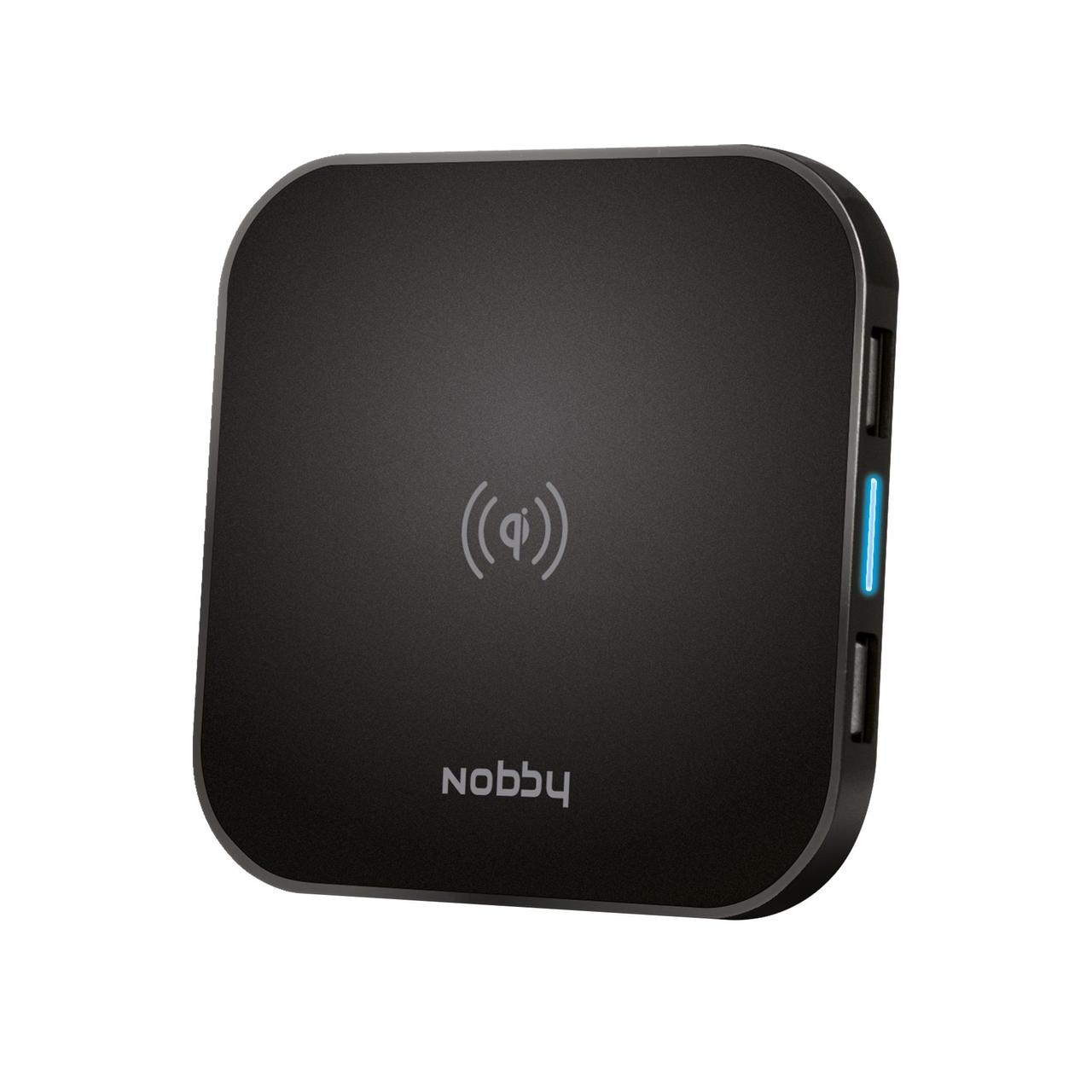 Беспроводное зарядное устройство Nobby Practic, черное (артикул 21121.30)