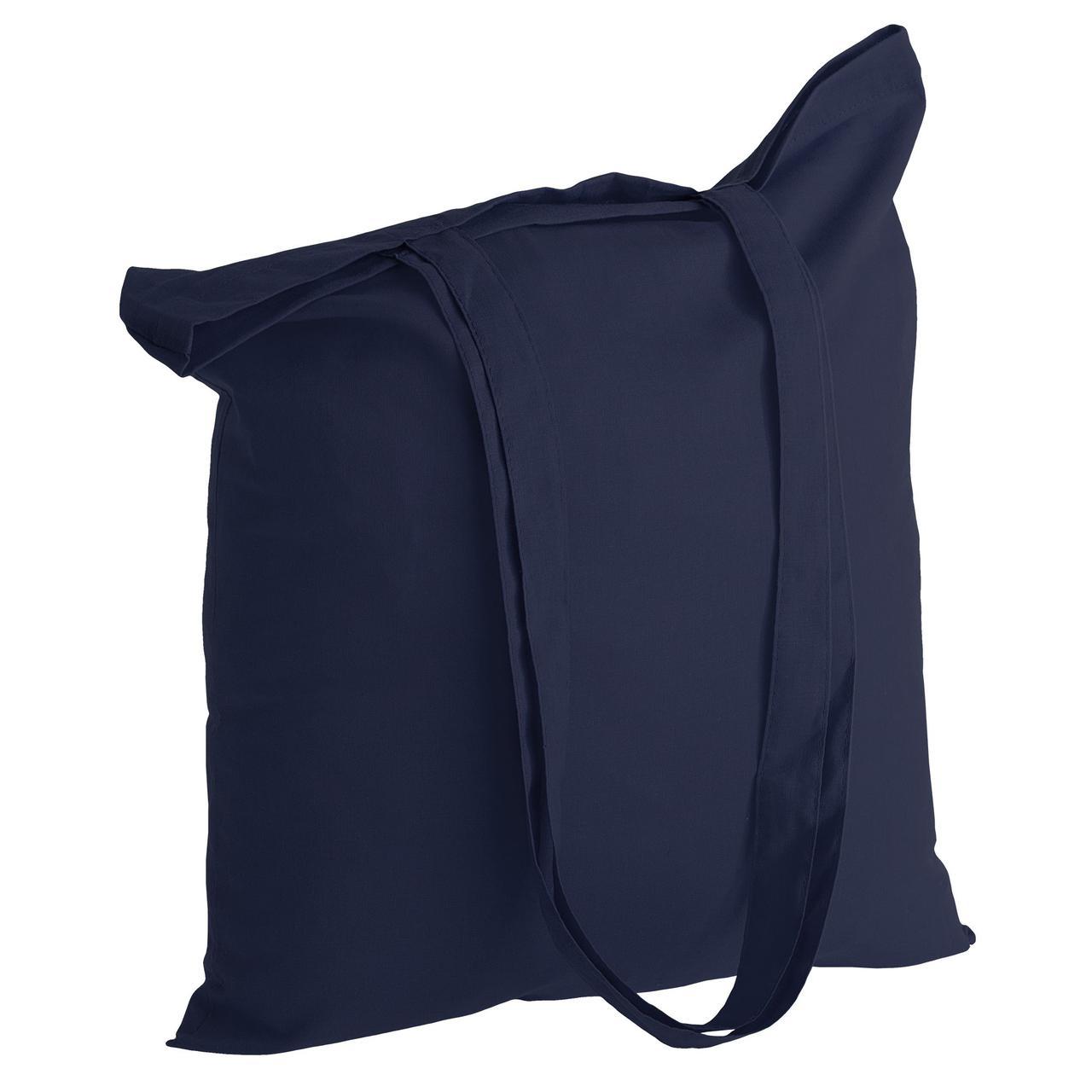 Холщовая сумка Basic 105, темно-синяя (артикул 1292.40)