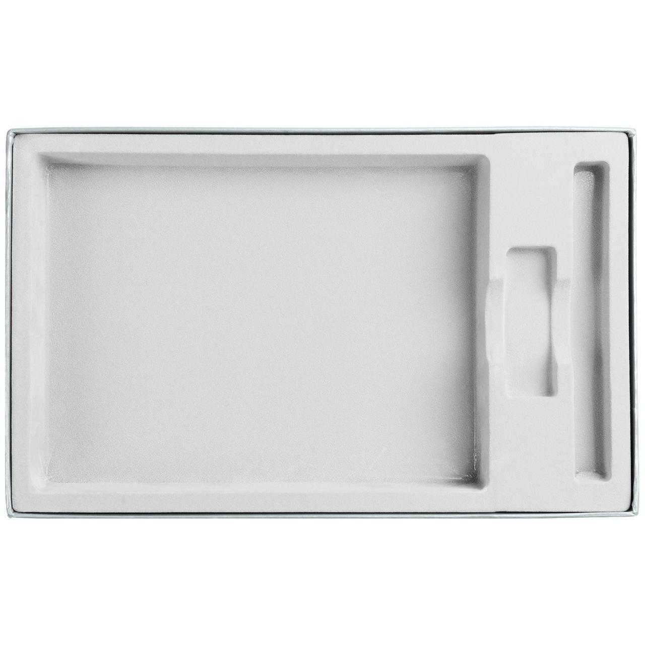 Коробка In Form под ежедневник, флешку, ручку, серебристая (артикул 10067.10)