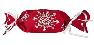 Упаковка-конфета «Снежинки», красная (артикул 2182.50)