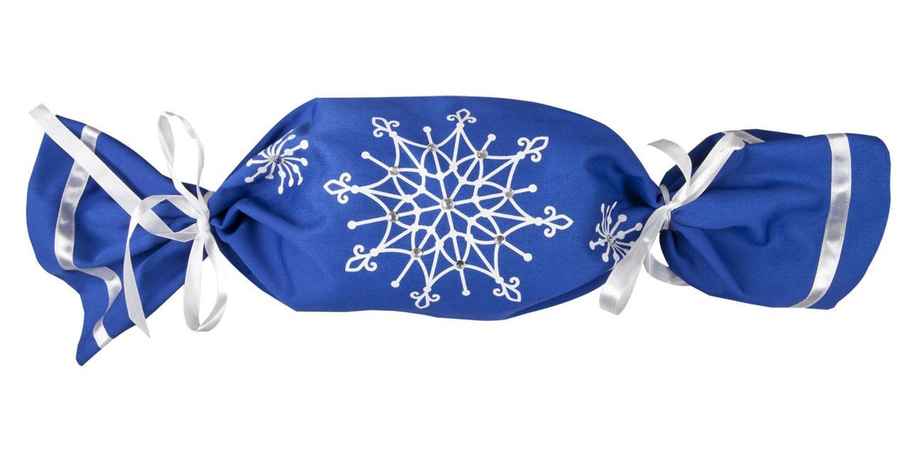 Упаковка-конфета «Снежинки», синяя (артикул 2182.40)