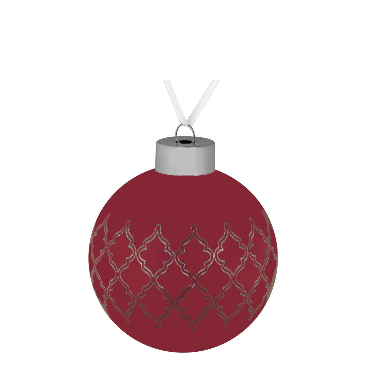Елочный шар King, 8 см, красный (артикул 7163.50)