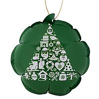 Новогодний самонадувающийся шарик, зеленый с белым рисунком (артикул 7144.96)