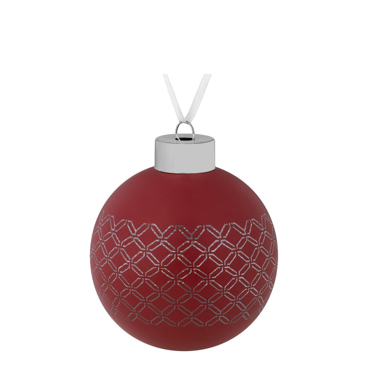Елочный шар Queen, 8 см, красный (артикул 7171.50)