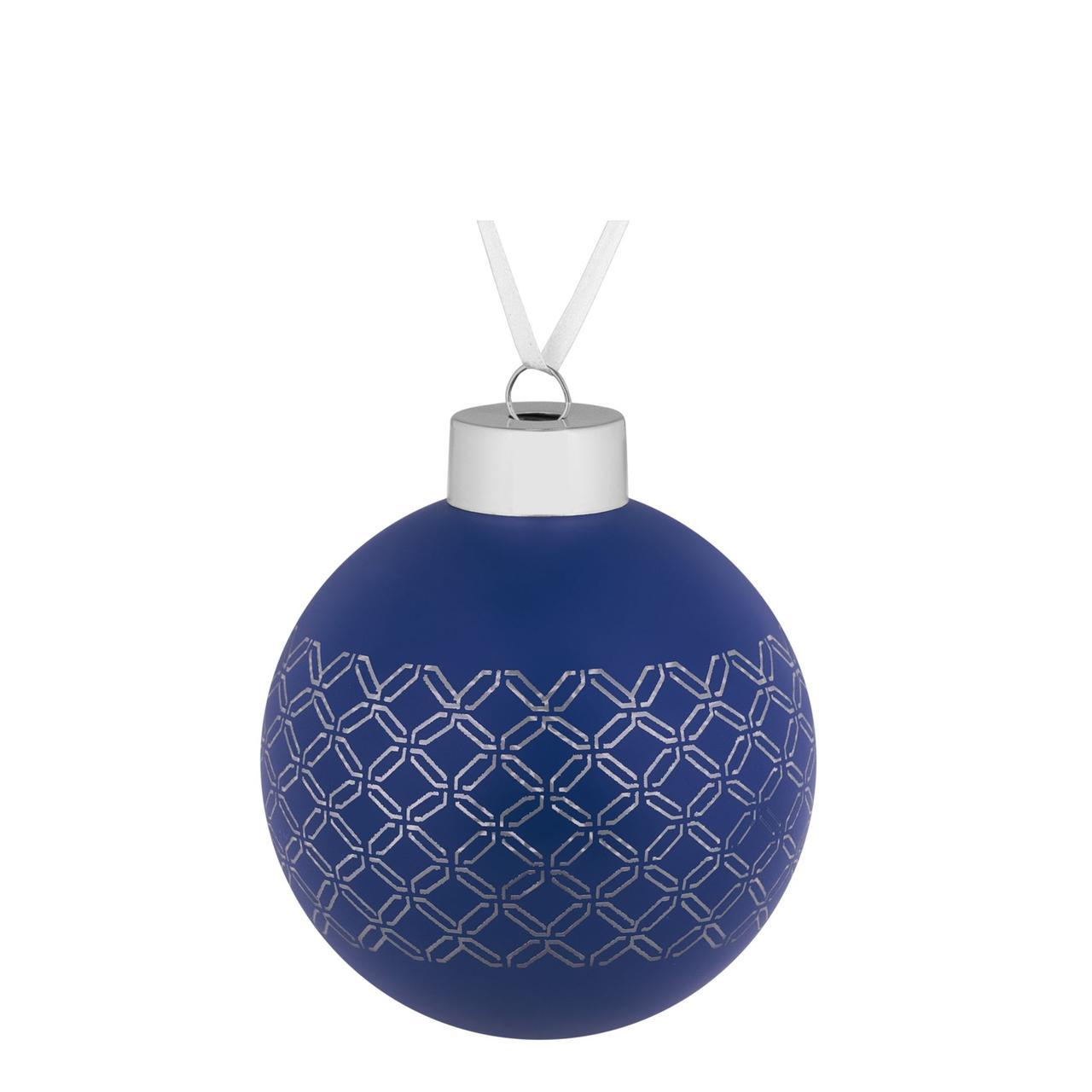 Елочный шар Queen, 8 см, синий (артикул 7171.40)
