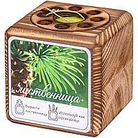 Набор для выращивания с органайзером «Экокуб Burn», лиственница (артикул 10608.07)
