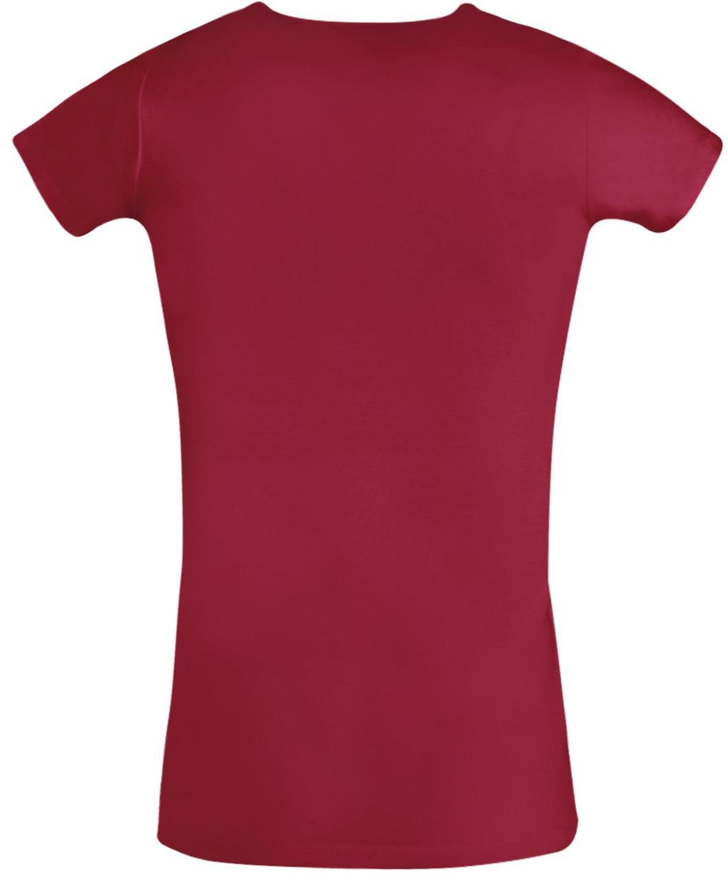 Футболка женская Moody 160 красная (артикул 11865145) - фото 2