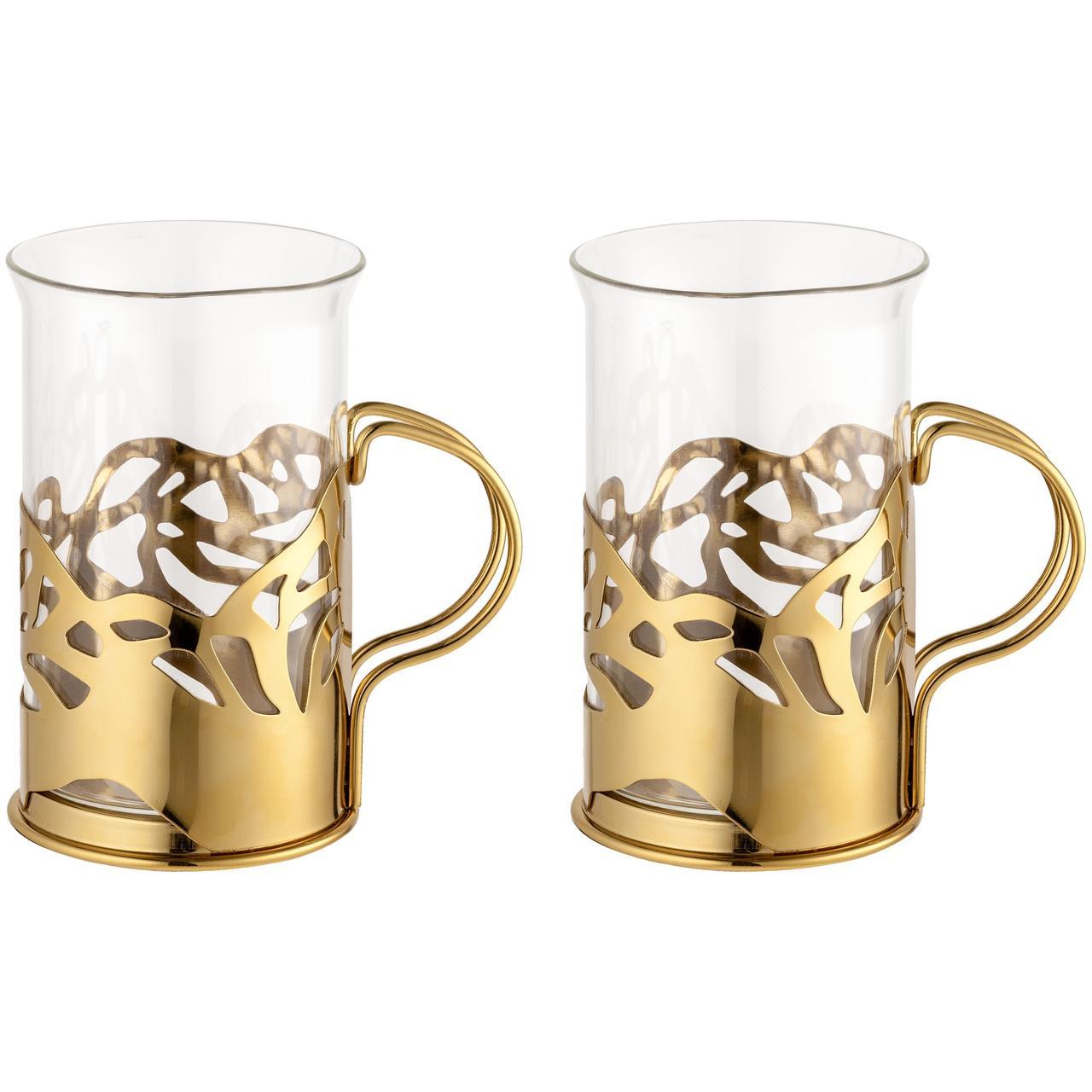 Набор стаканов в подстаканниках Cite, золотистый (артикул 19122.00)
