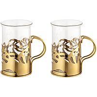 Набор стаканов в подстаканниках Cite, золотистый (артикул 19122.00), фото 1