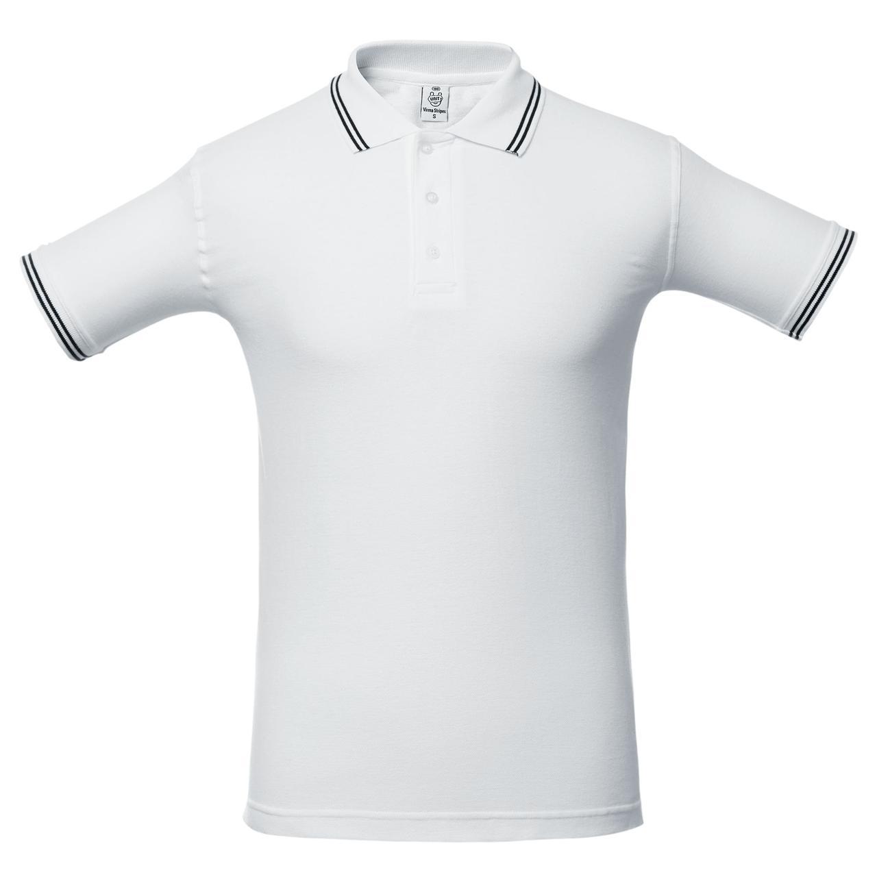 Рубашка поло Virma Stripes, белая (артикул 1253.60)