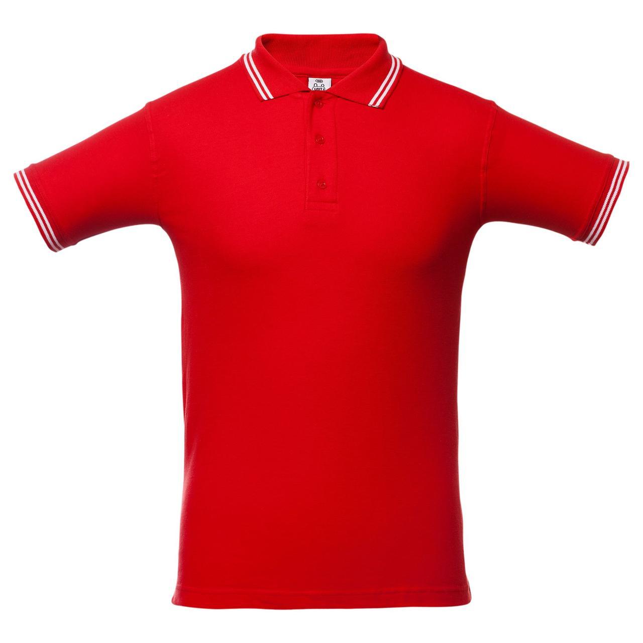 Рубашка поло Virma Stripes, красная (артикул 1253.50)