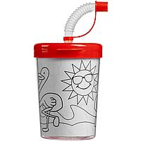 Детский стакан-раскраска «Передвижник», красный (артикул 11381.50)