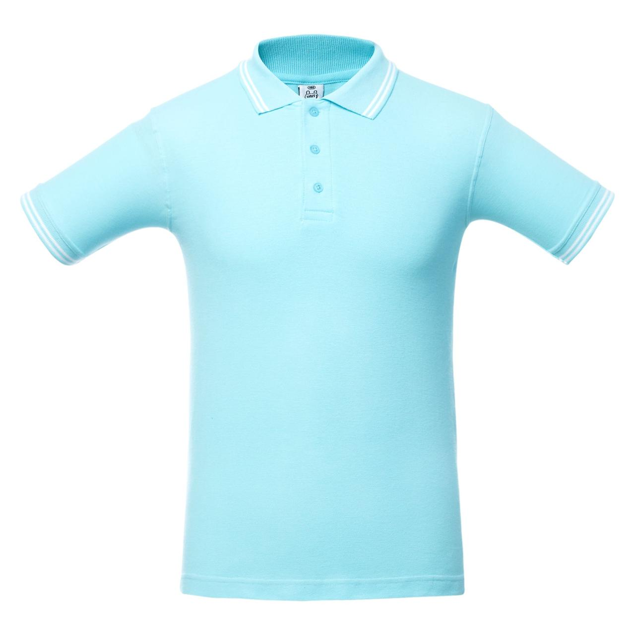 Рубашка поло Virma Stripes, светло-бирюзовая (артикул 1253.14)