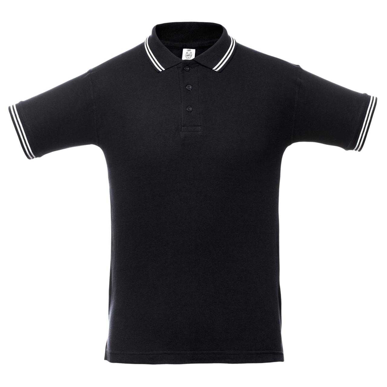 Рубашка поло Virma Stripes, черная (артикул 1253.30)
