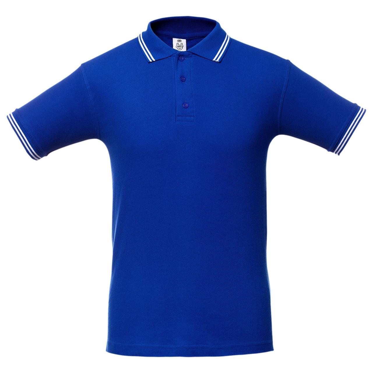 Рубашка поло Virma Stripes, ярко-синяя (артикул 1253.44)