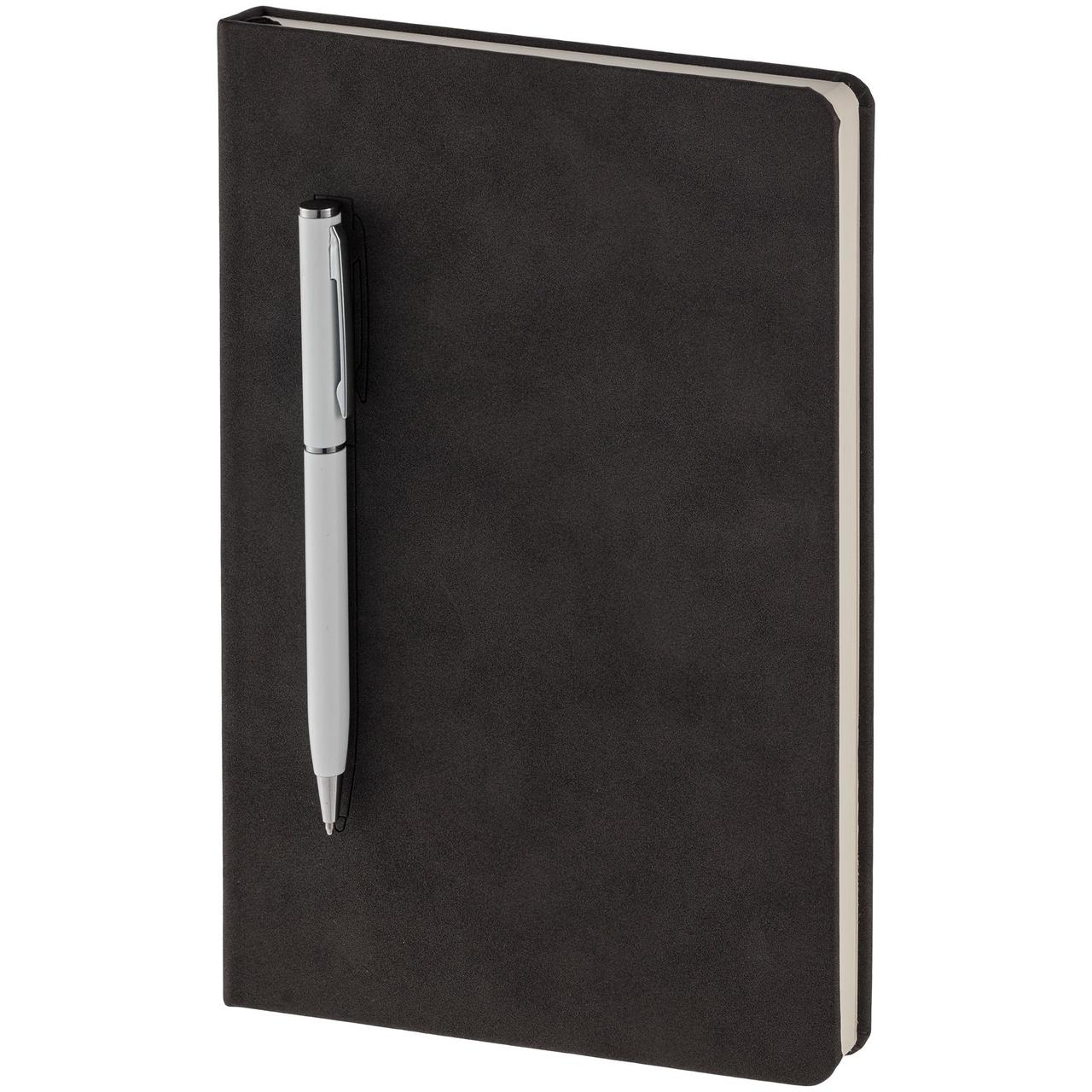 Блокнот Magnet Chrome с ручкой, черно-белый (артикул 15016.60)