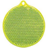 Пешеходный светоотражатель «Круг», неон-желтый (артикул 4210.89)