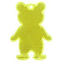 Пешеходный светоотражатель «Мишка», неон-желтый (артикул 4815.89)