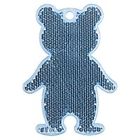 Пешеходный светоотражатель «Мишка», синий (артикул 4815.40)