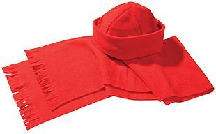 Комплект Unit Fleecy: шарф и шапка, красный (артикул 4725.50)