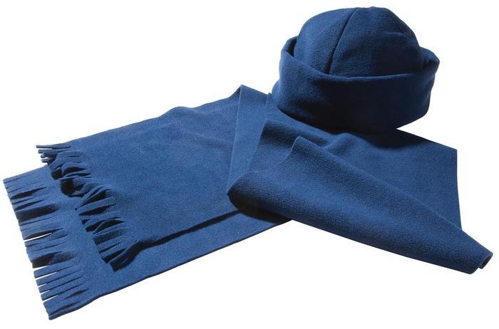 Комплект Unit Fleecy: шарф и шапка, синий (артикул 4725.40)