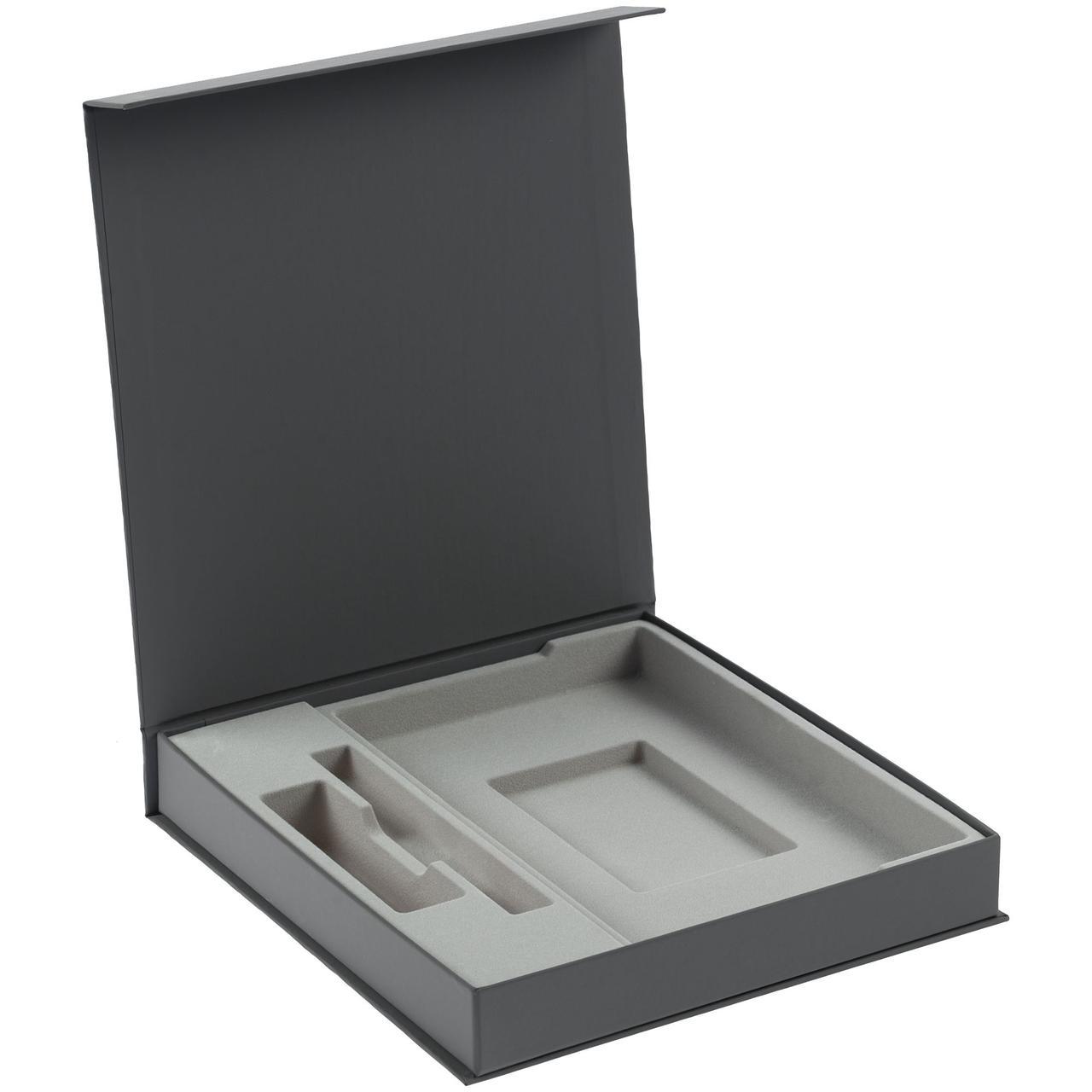Коробка Arbor под ежедневник 13х21 см, аккумулятор и ручку, серая (артикул 11703.10)
