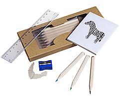 Набор карандашей «Ребенок занят делом» с раскраской, точилкой и линейкой (артикул 5353)