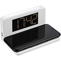 Часы настольные с беспроводным зарядным устройством Pitstop, белые (артикул 11879.60)