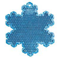 Пешеходный светоотражатель «Снежинка», синий (артикул 4209.40)