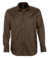 Рубашка мужская с длинным рукавом Brighton, темно-коричневая (артикул 2508.52)