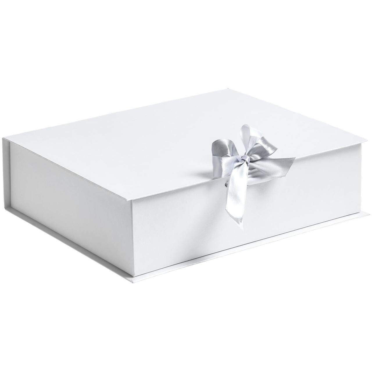 Коробка на лентах Tie Up, белая (артикул 10600.60)