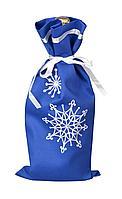 Чехол для шампанского «Снежинки», синий (артикул 2184.40)