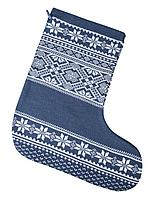 Новогодний носок «Скандик», синий (индиго) (артикул 2211.40)