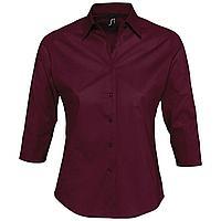 Рубашка женская с рукавом 3/4 Effect 140, бордовая (артикул 17010164)