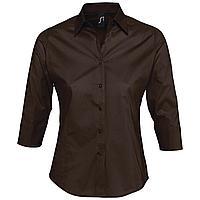 Рубашка женская с рукавом 3/4 Effect 140, темно-коричневая (артикул 17010399)