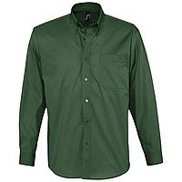Рубашка мужская с длинным рукавом Bel Air, темно-зеленая (артикул 16090264)
