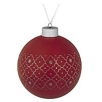 Елочный шар Chain, 10 см, красный (артикул 7170.50)