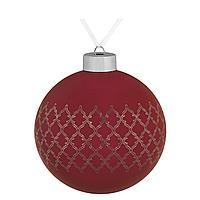 Елочный шар King, 10 см, красный (артикул 7164.50)