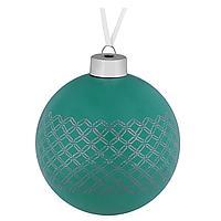 Елочный шар Queen, 10 см, зеленый (артикул 7172.90)