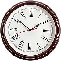 Часы настенные Flat Circle, коричневые (артикул 10733.59)