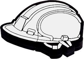 Флешка «Каска», белая, 8 Гб (артикул 5405.68)