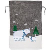 Мешок для подарков Noel, с медведями (артикул 12812.02)