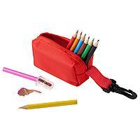 Набор Hobby с цветными карандашами и точилкой, красный (артикул MKT5139red)