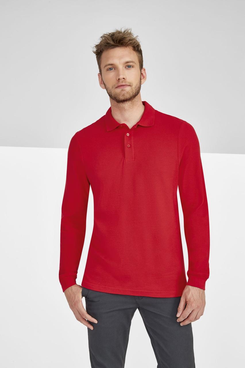 Рубашка поло мужская с длинным рукавом Winter II 210 шоколадно-коричневая (артикул 11353398) - фото 5